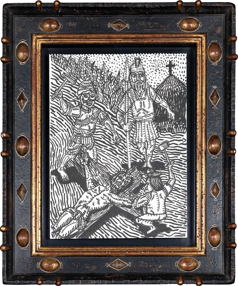 """Christ en croix, dit """"Le Plantage du Christ"""""""