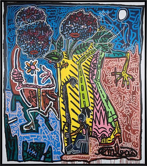 Le Trio Hortensia avec le Grand Lune qui danse