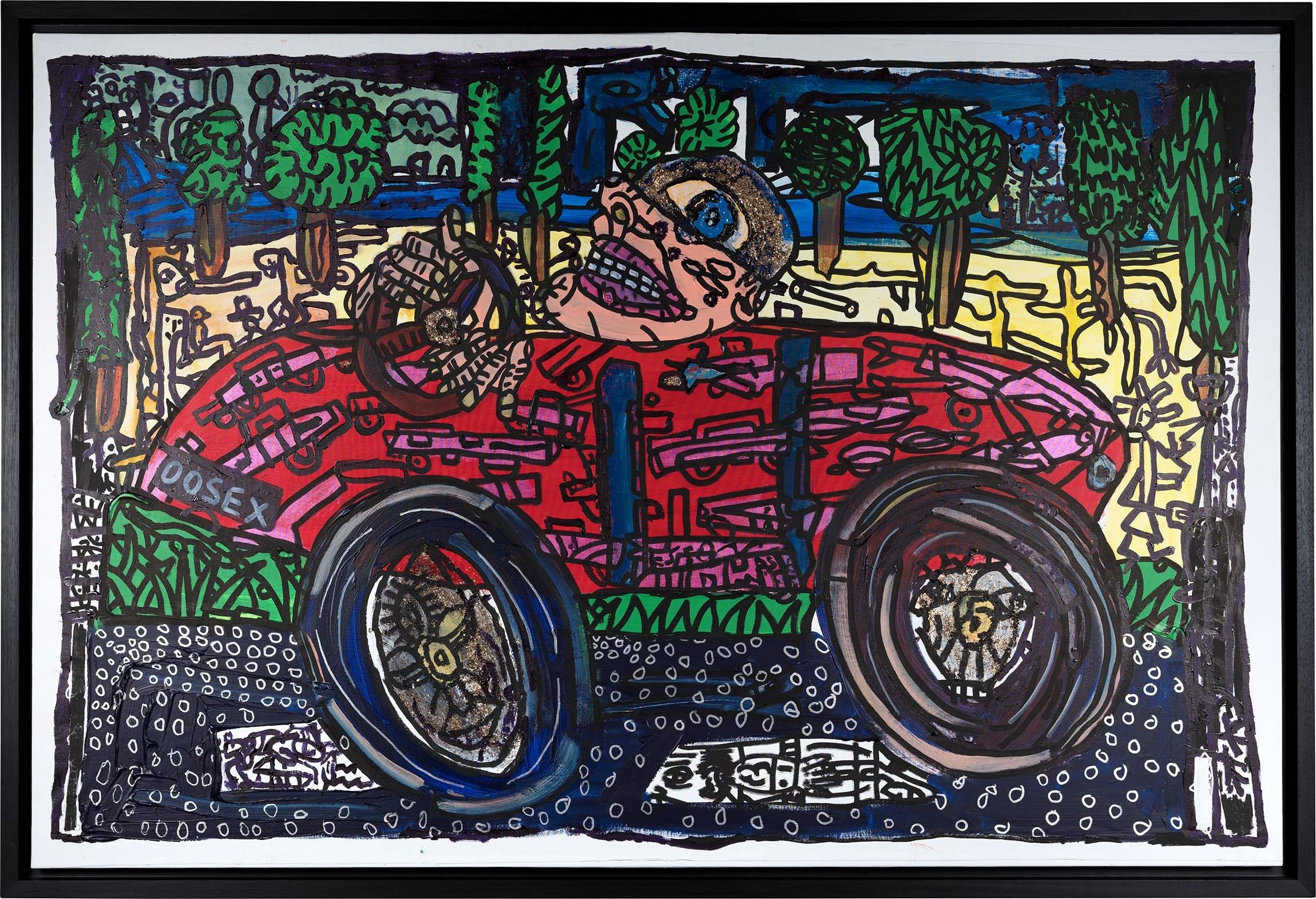 Extraordinaire Reoosex - Voiture vitesse et One Place Man - Robert COMBAS - Artistes JP-94